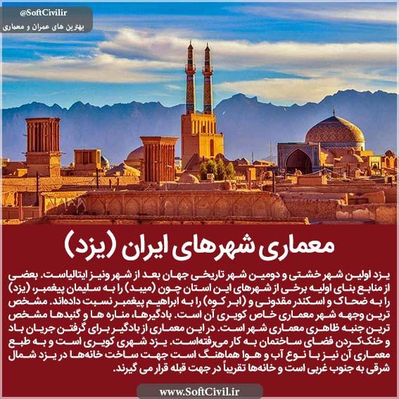 معماری شهرهای ایران (یزد)